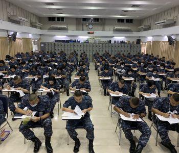 ทดสอบวิภาววิสัยให้แก่ผู้เข้ารับการศึกษาหลักสูตรนายทหารชั้นผู้บังคับหมวด