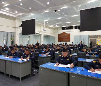 ทดสอบวิภาววิสัยให้กับผู้เข้ารับการศึกษา หลักสูตรเสนาธิการทหารอากาศ รุ่นที่ ๖๓