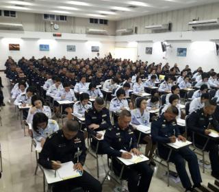 ทดสอบวิภาววิสัย ผู้เข้ารับการศึกษาหลักสูตรนายทหารชั้นผู้บังคับหมวด รุ่นที่ ๗๘